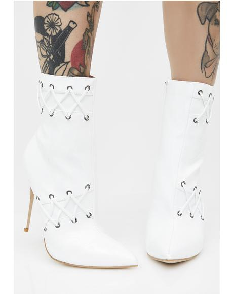 Kenton Lace Detail Ankle Boots
