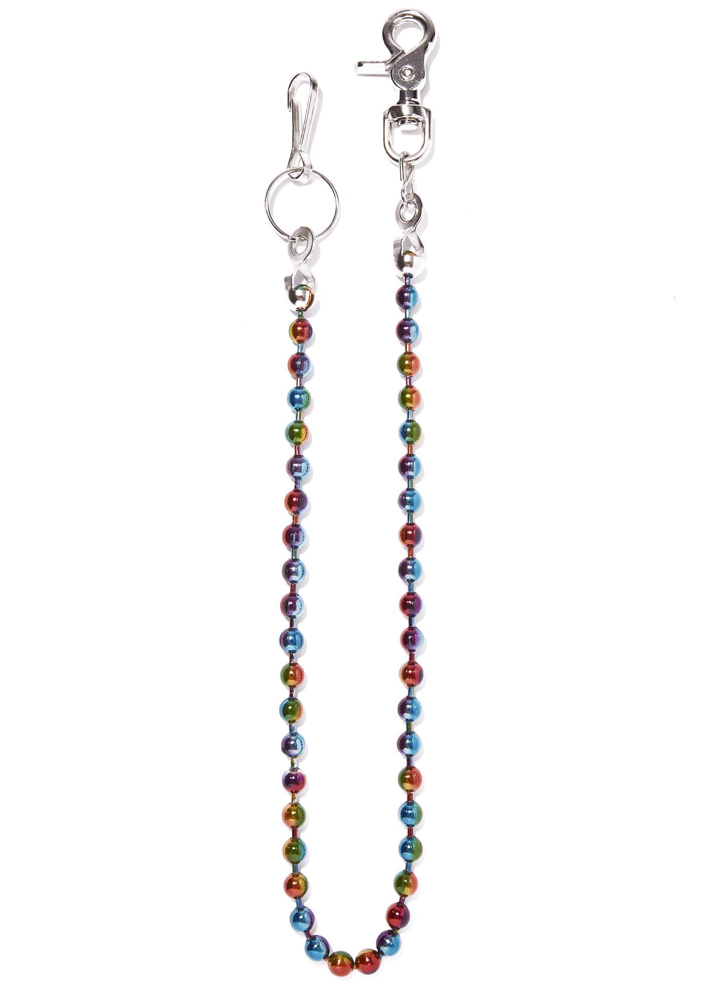 Rainbow Ball Chain Belt