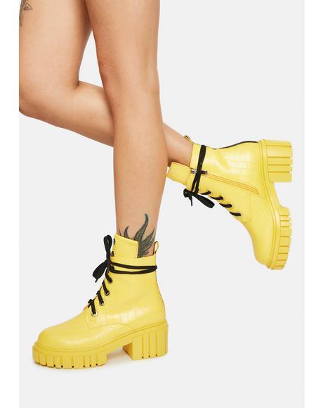 Birdie Combat Boots