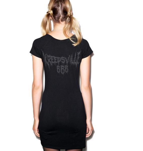 Kreepsville 666 Goathead V Neck Tunic Dress