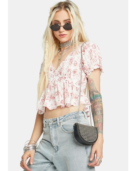 Love Story Floral Top