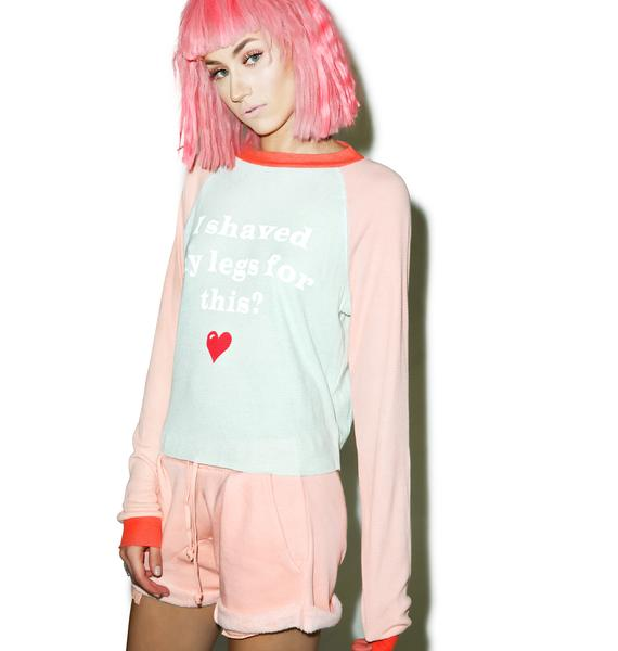Wildfox Couture Bad Date Luca Crop Thermal