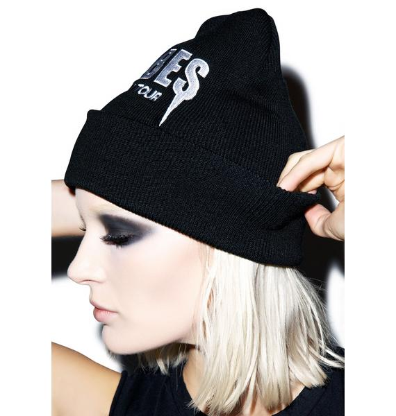 Petals and Peacocks Babes Tour Beanie