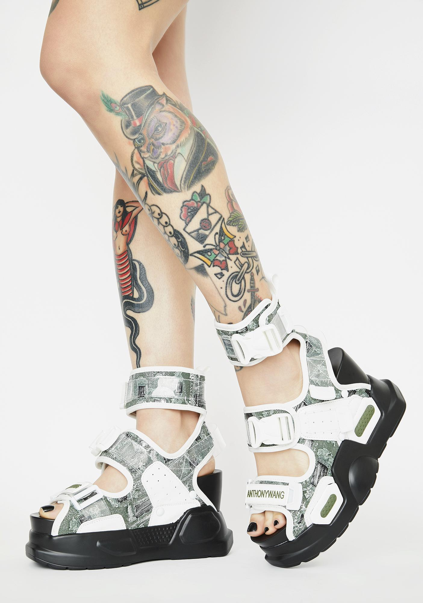 Anthony Wang Mulberry Platform Sandals