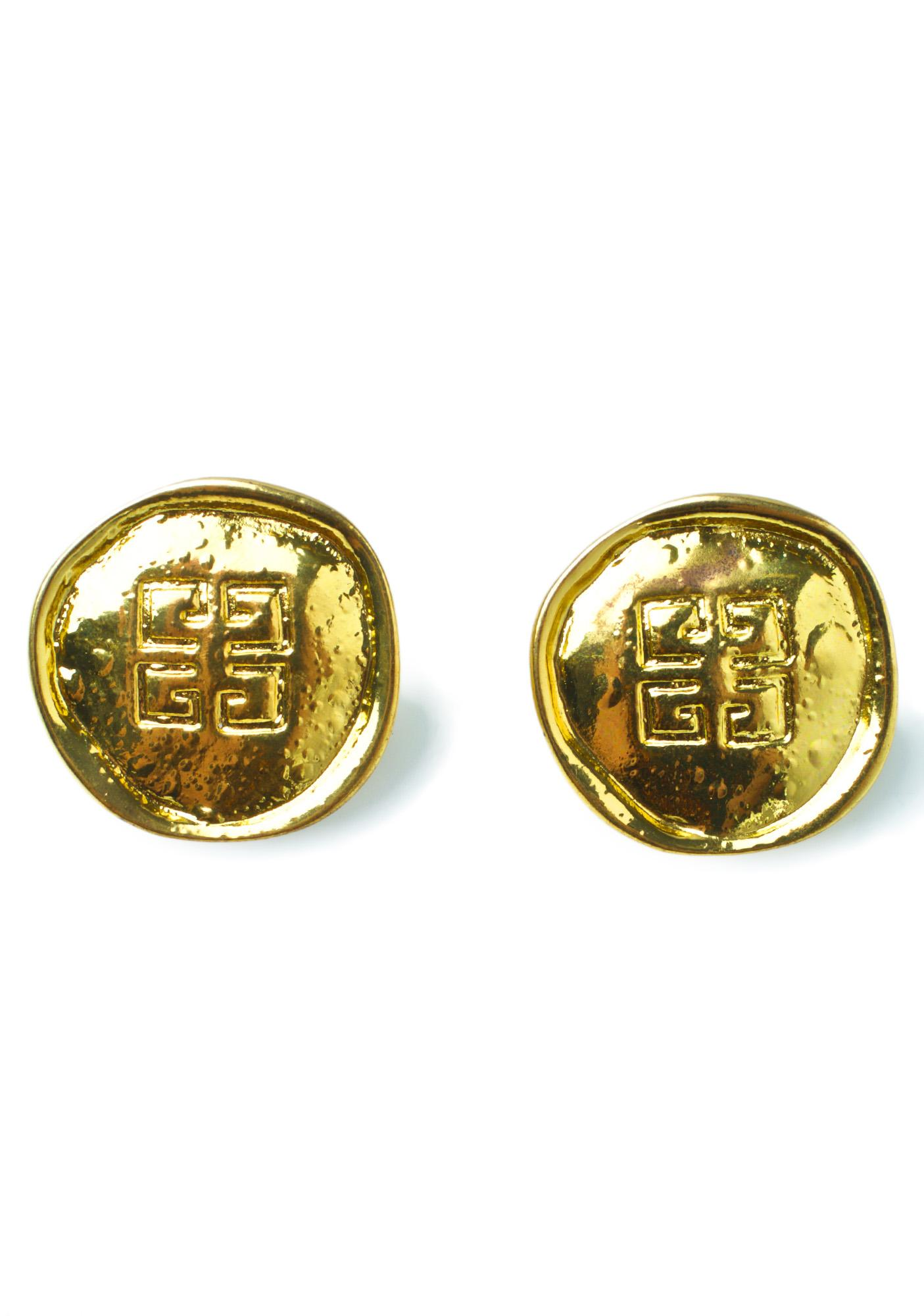 American Deadstock Givenchy Gimme Coin Earrings