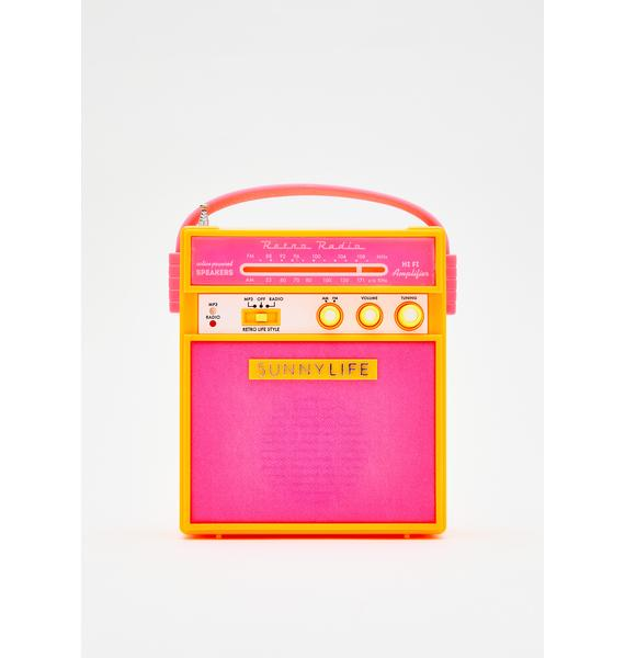 Malibu Bass Boom Portable Radio
