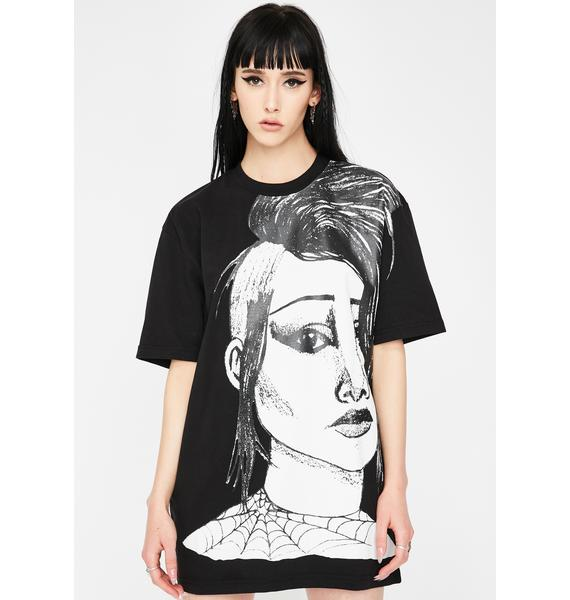 CHINATOWN MARKET Face Graphic Tee