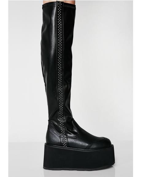 Stompin' Hard Platform Boots