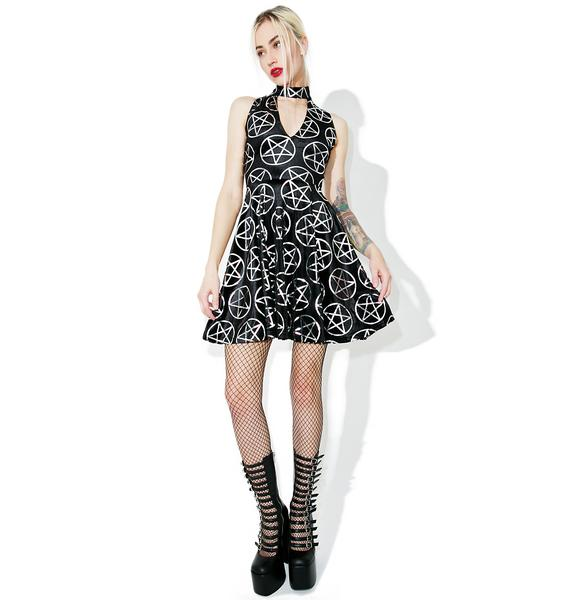 Killstar Silver Spring Skater Dress