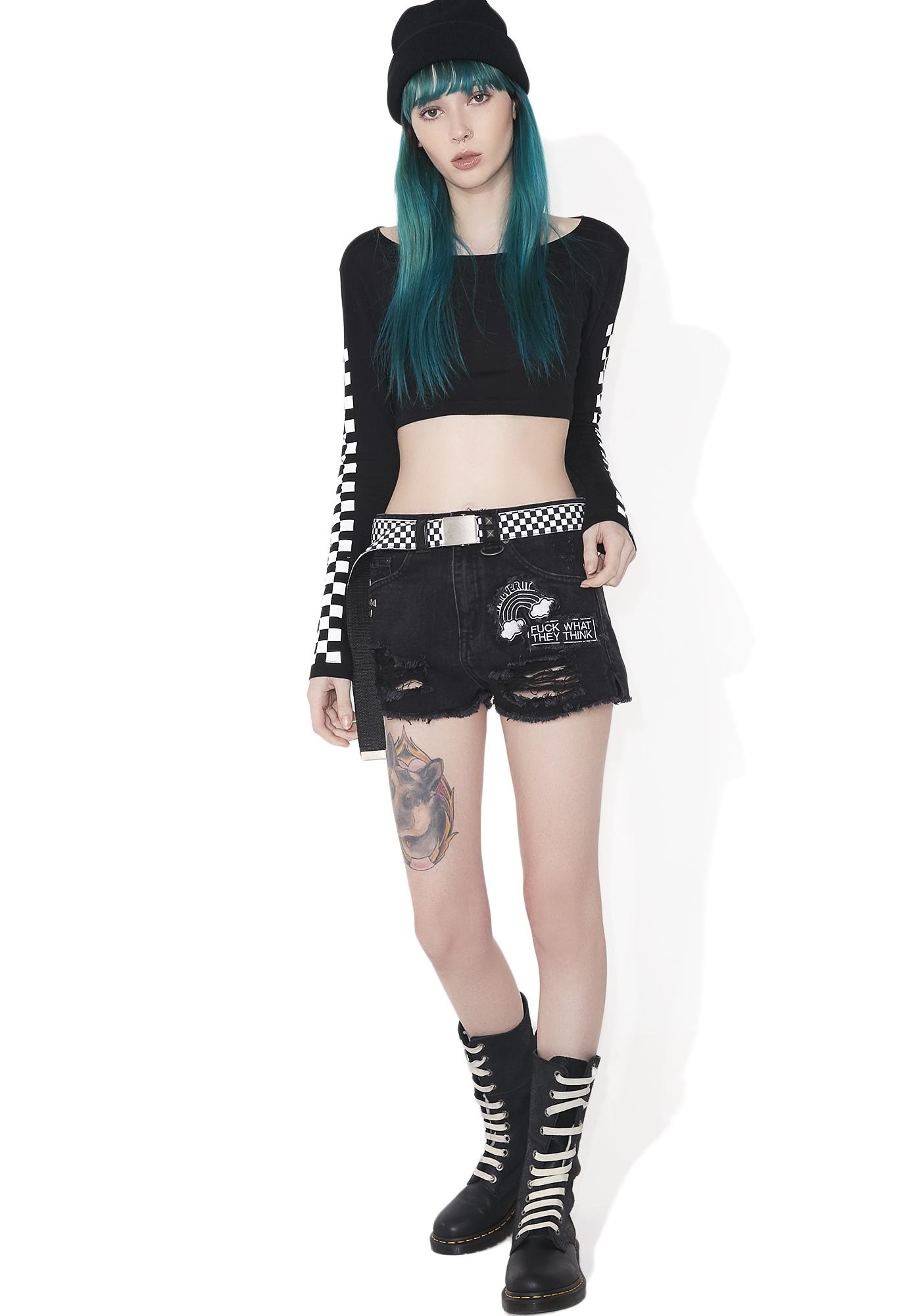 Killstar Furia Do-As-I-Say Shorts