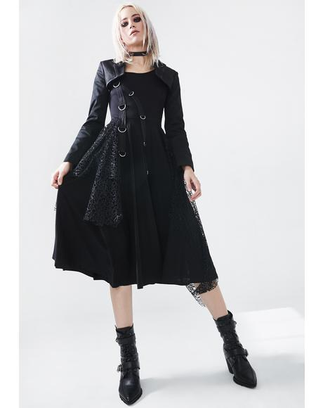 Punk Rebellion Midi Dress
