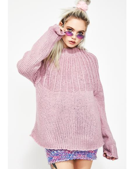 Lilac Dream Desire Tie Back Sweater