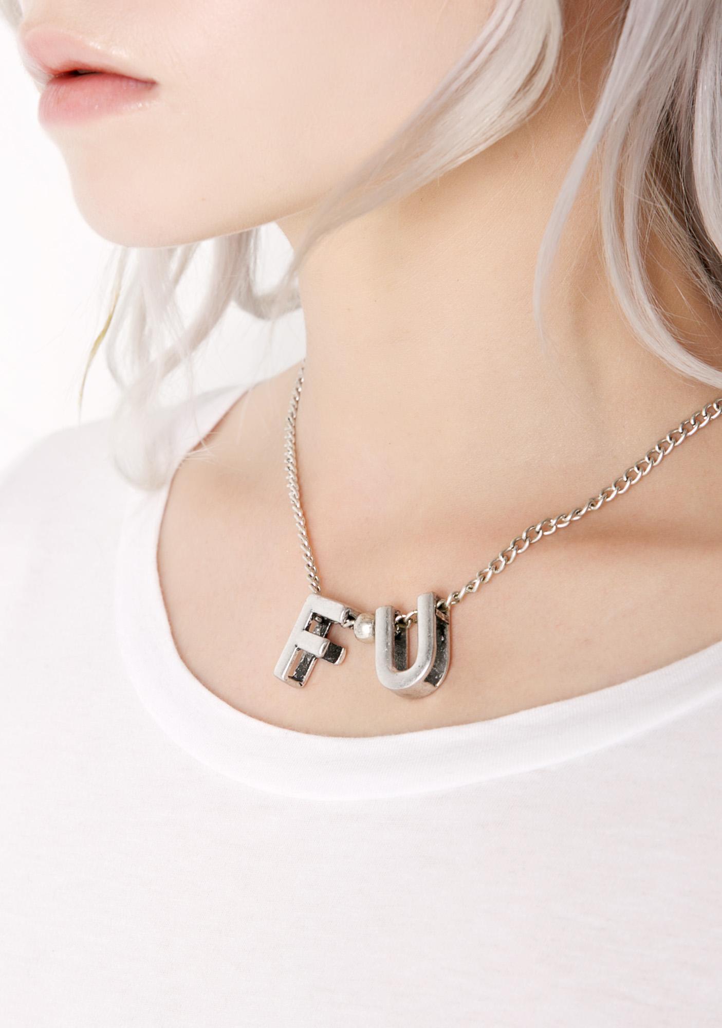 F-U Too Necklace