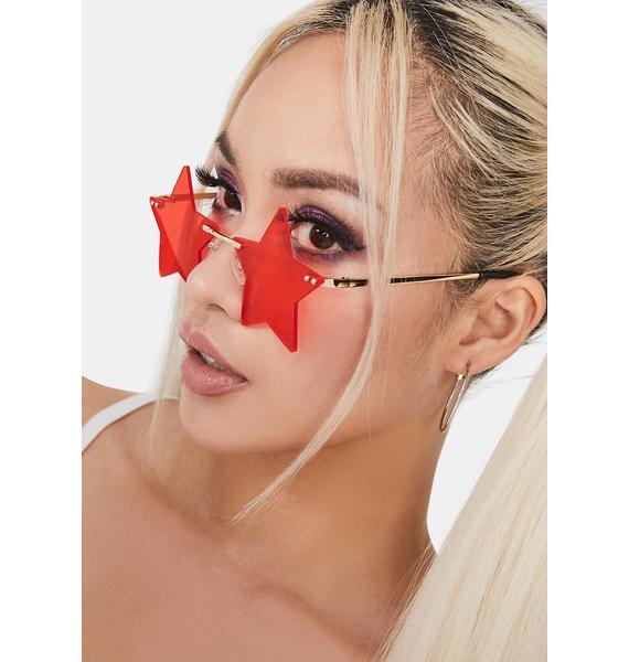 Cherry Wish Come True Star Sunglasses