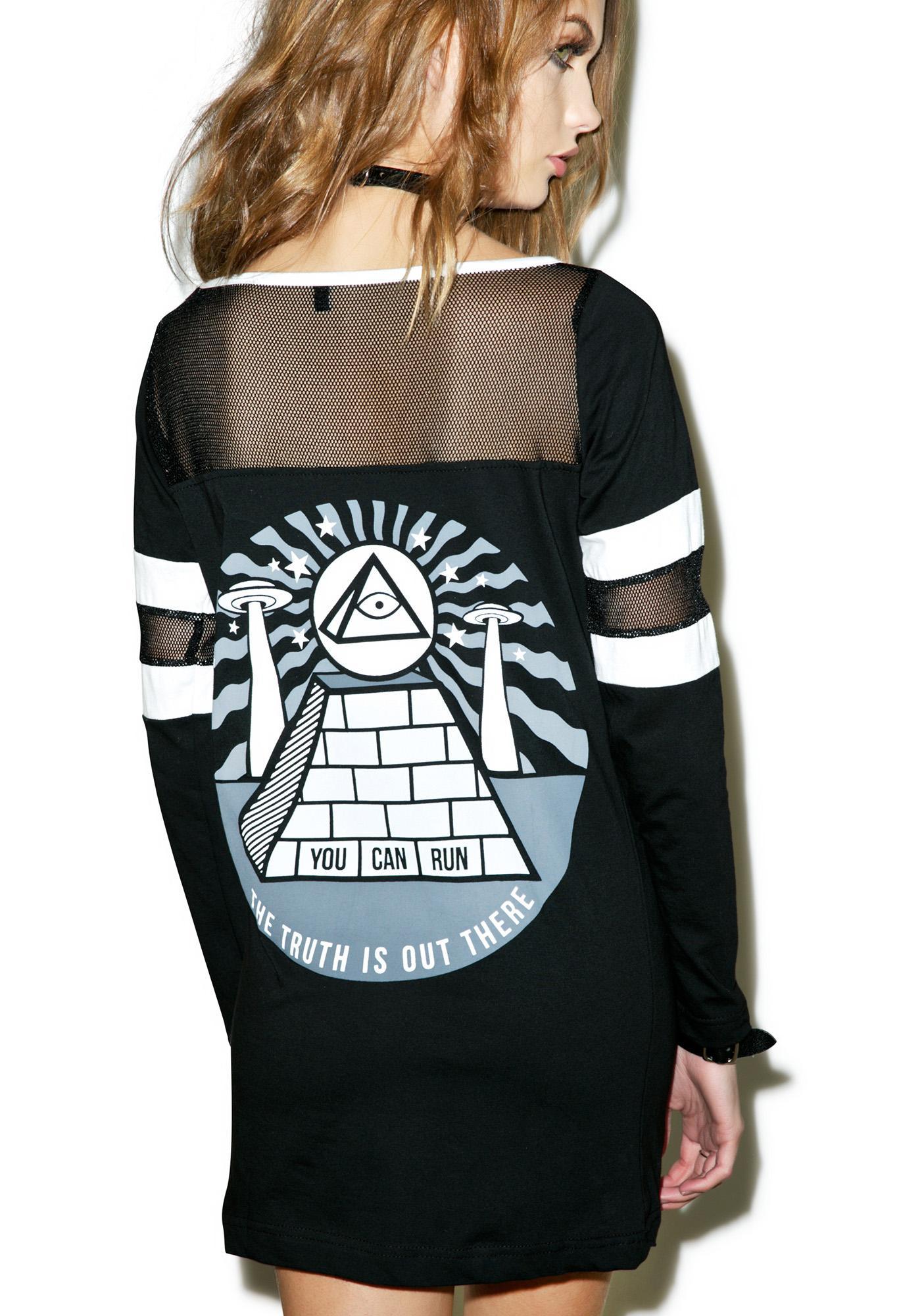 Disturbia Pyramid Mesh Top
