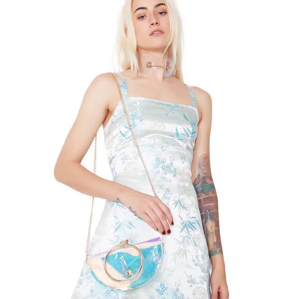 Half Mewn Iridescent Crossbody Bag