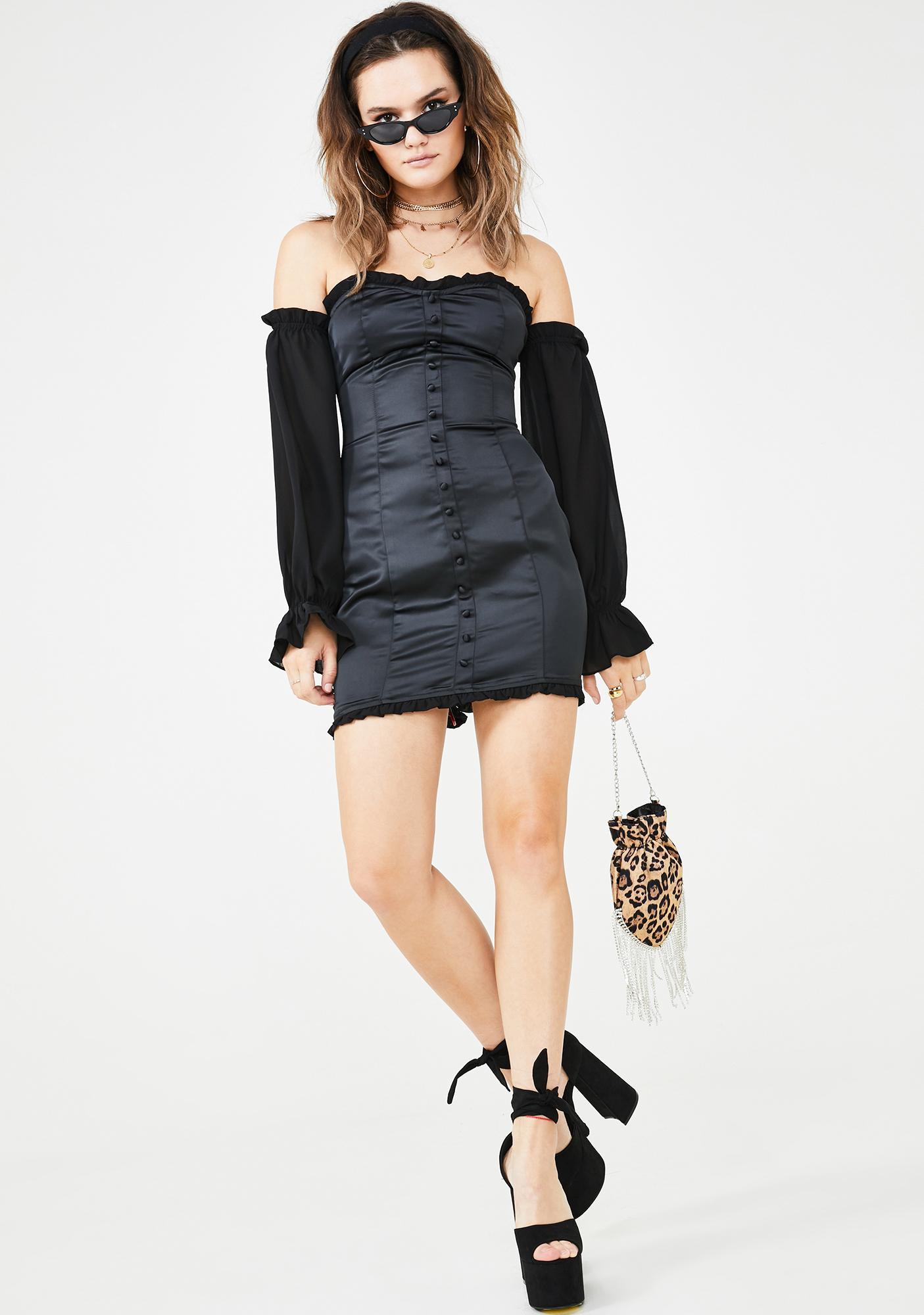 Lioness Midnight Good Girl Bad Bish Mini Dress