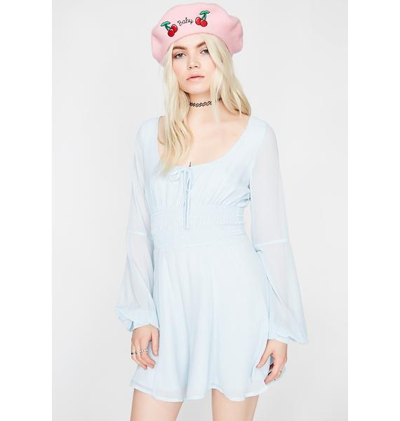 Blue Dream Babydoll Dress