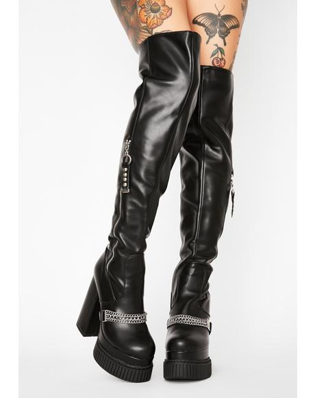 Game Changer Thigh High Boots