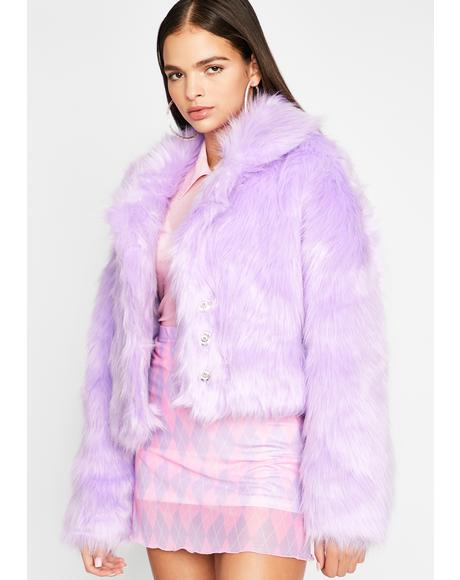 Lilac Doll Life Faux Fur Jacket
