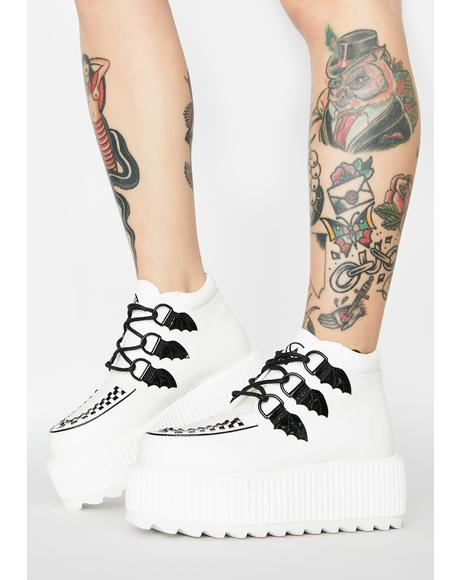 White Super Kreep Platform Shoes