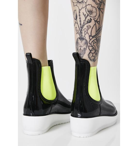 Mercury's In Retrograde Patent Boots