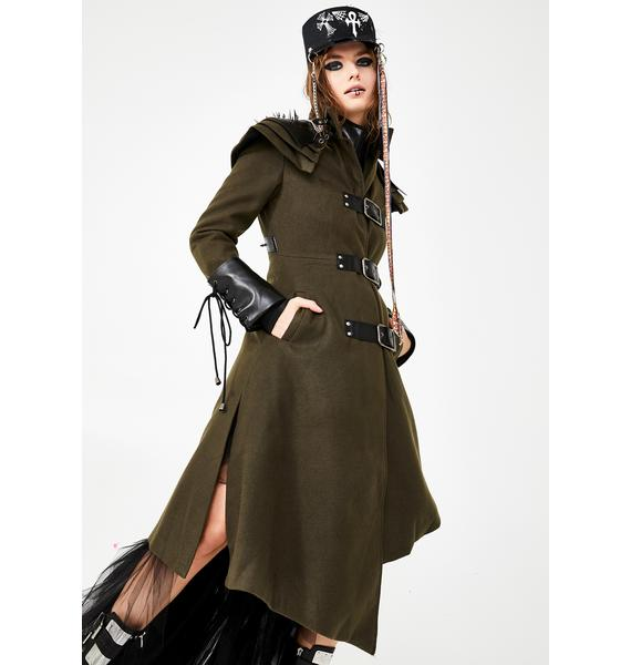 Punk Rave Madman Release Trench Coat