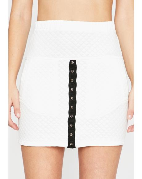 Icy Gotta Bounce Quilted Skirt