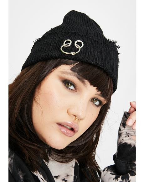Ravaged Regard Knit Beanie