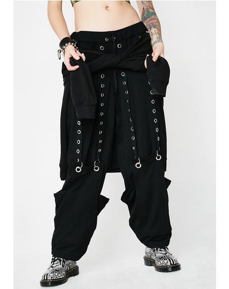 Suspended Eyelet Sweatpants