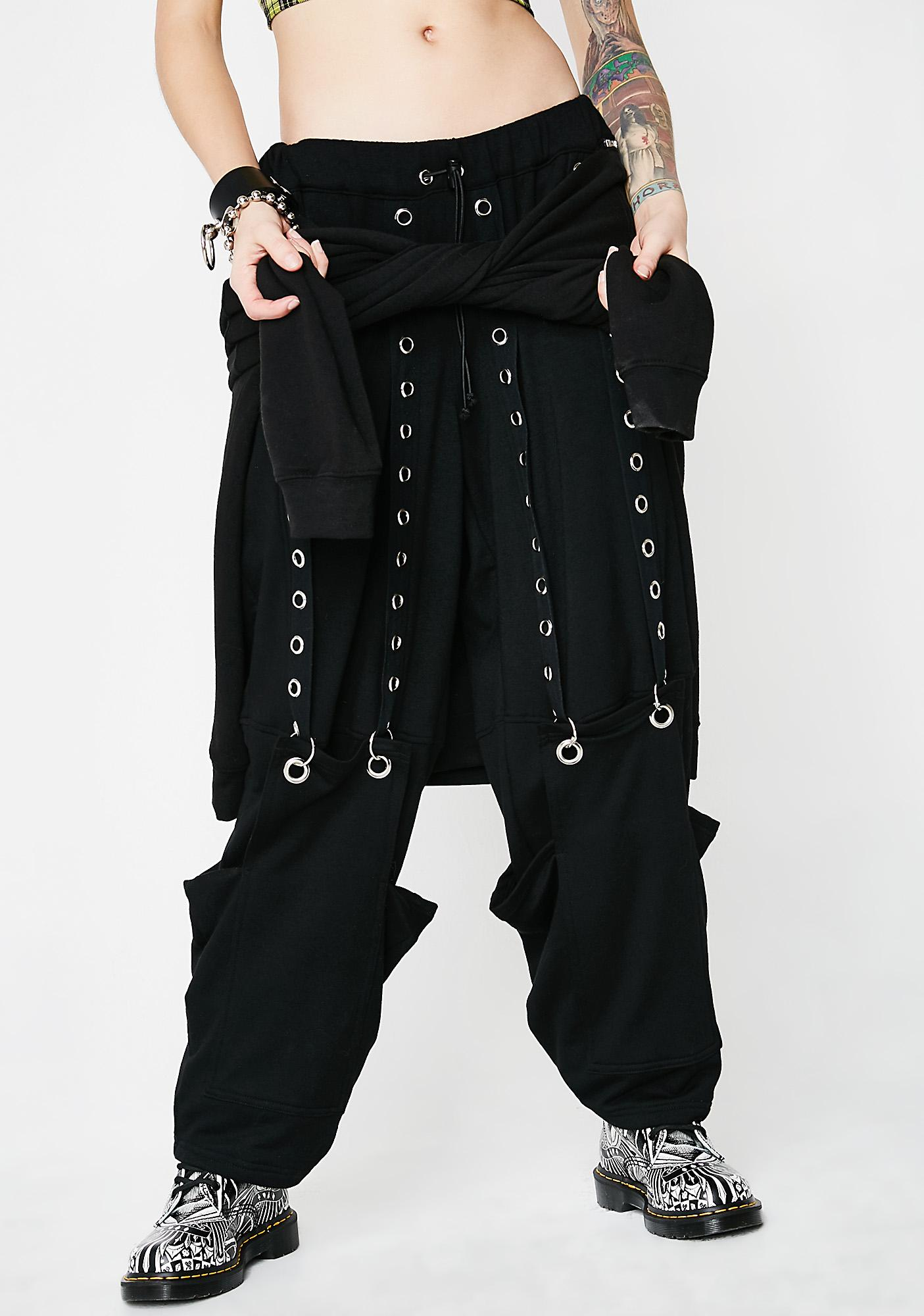 Whatever 21 Suspended Eyelet Sweatpants
