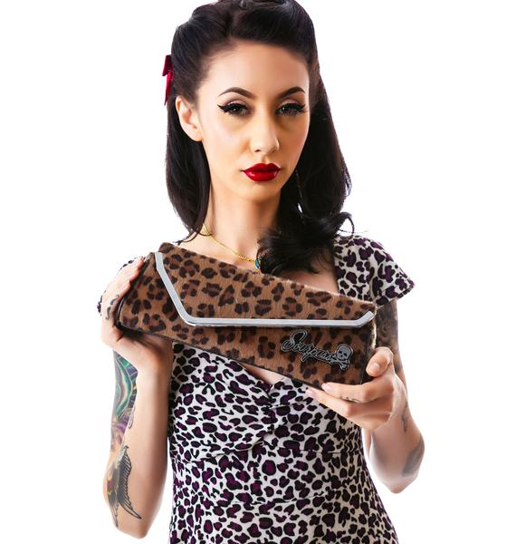 Sourpuss Clothing Leopard Party Clutch
