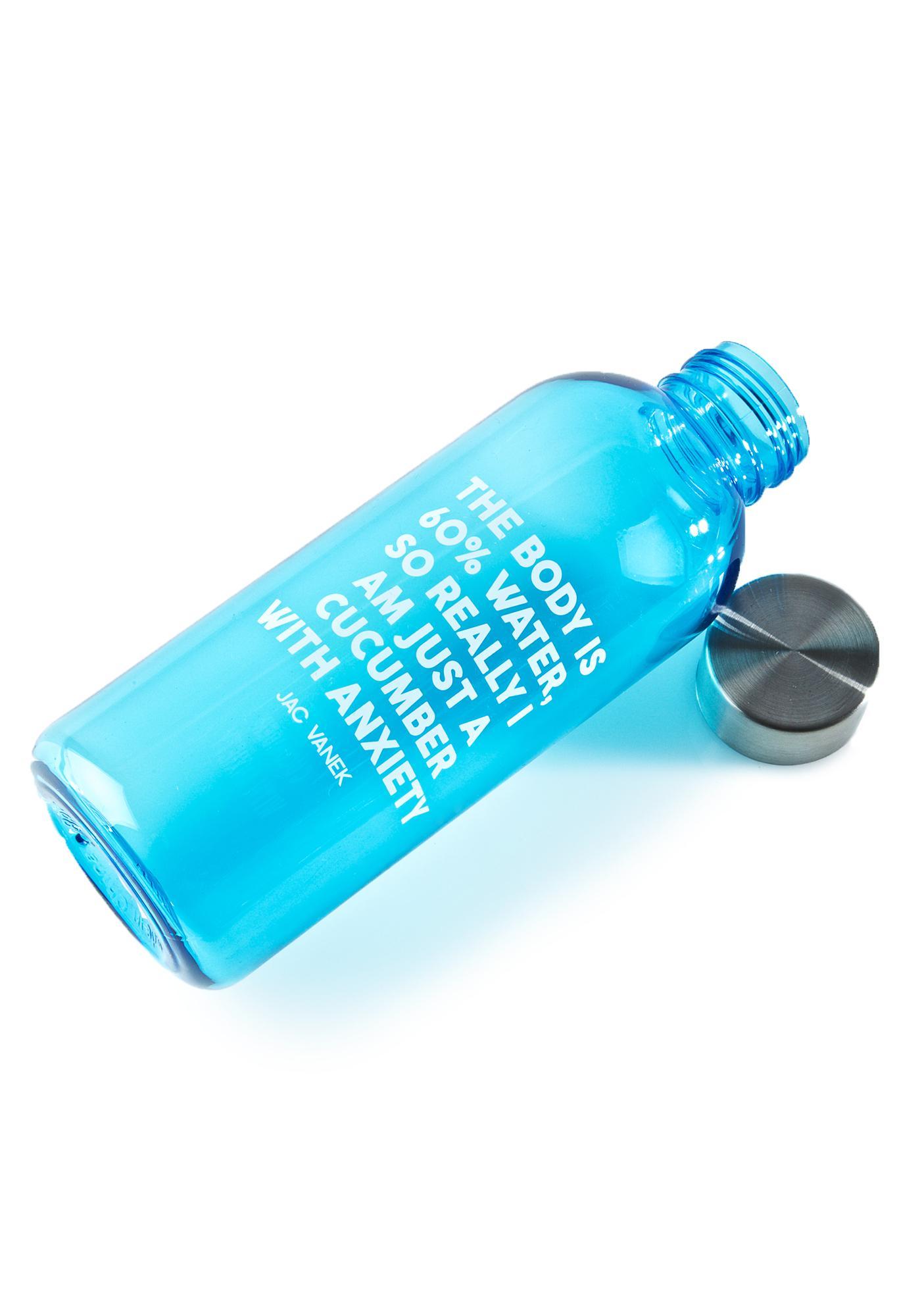Jac Vanek Cucumber 20 Oz Water Bottle