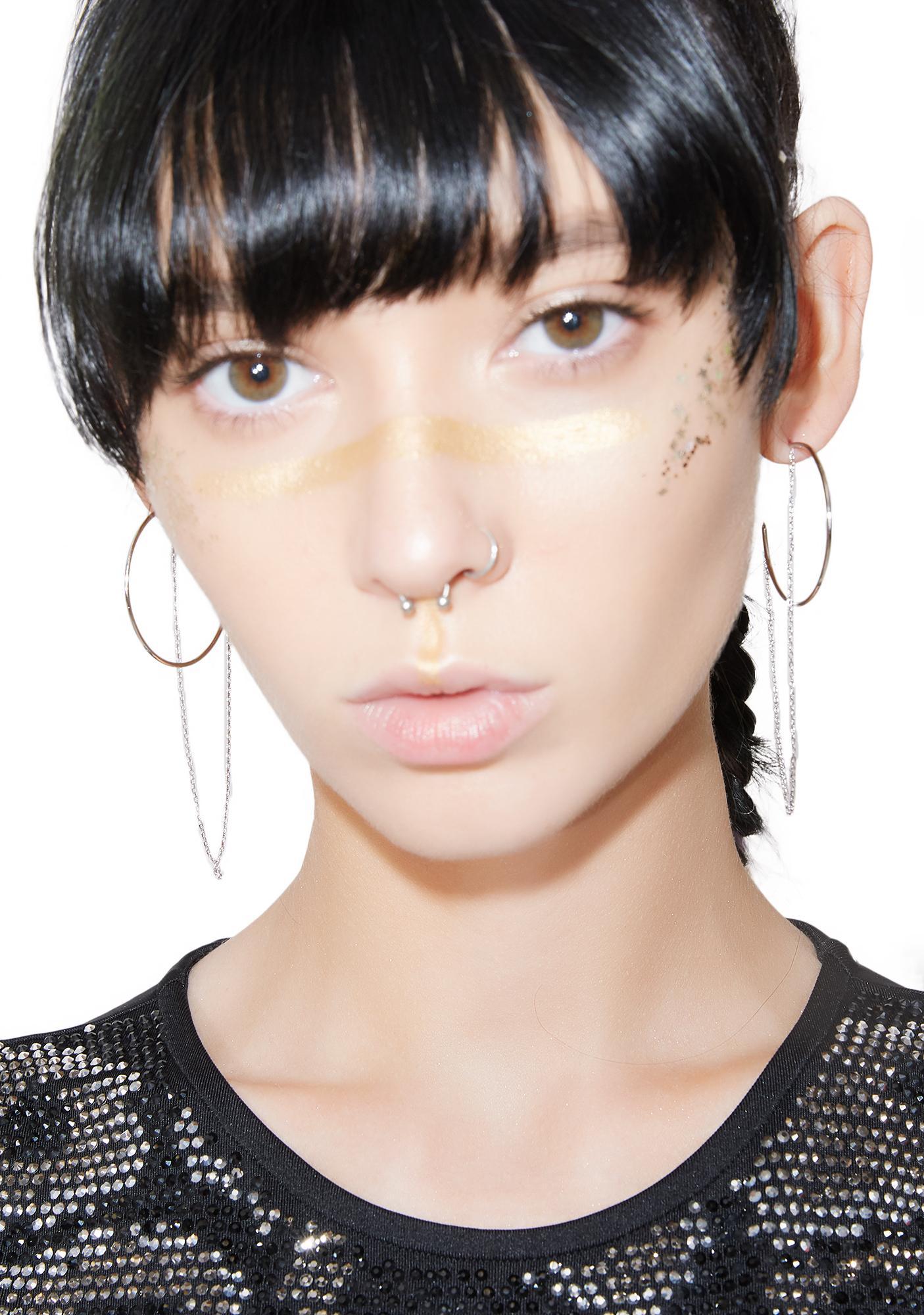 Hung Up Hoop Earrings