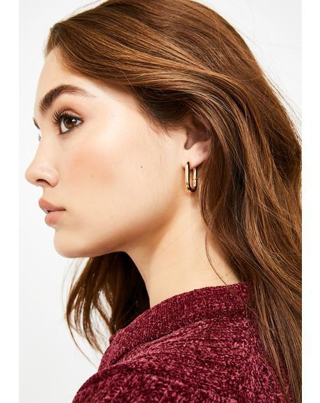Thicc Bish Hoop Earrings