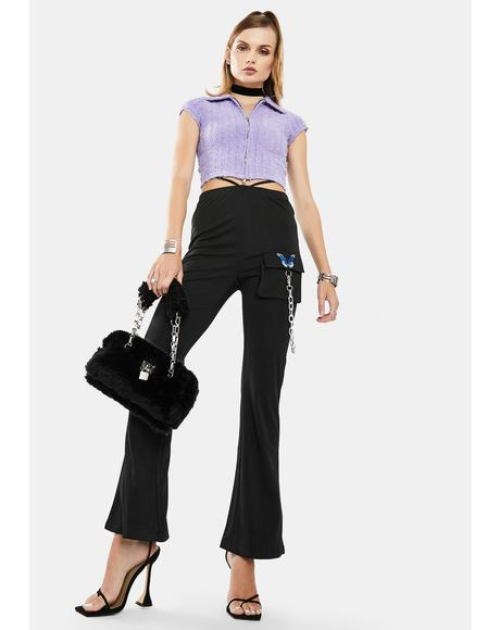 Butterfly Chain High Waist Pants