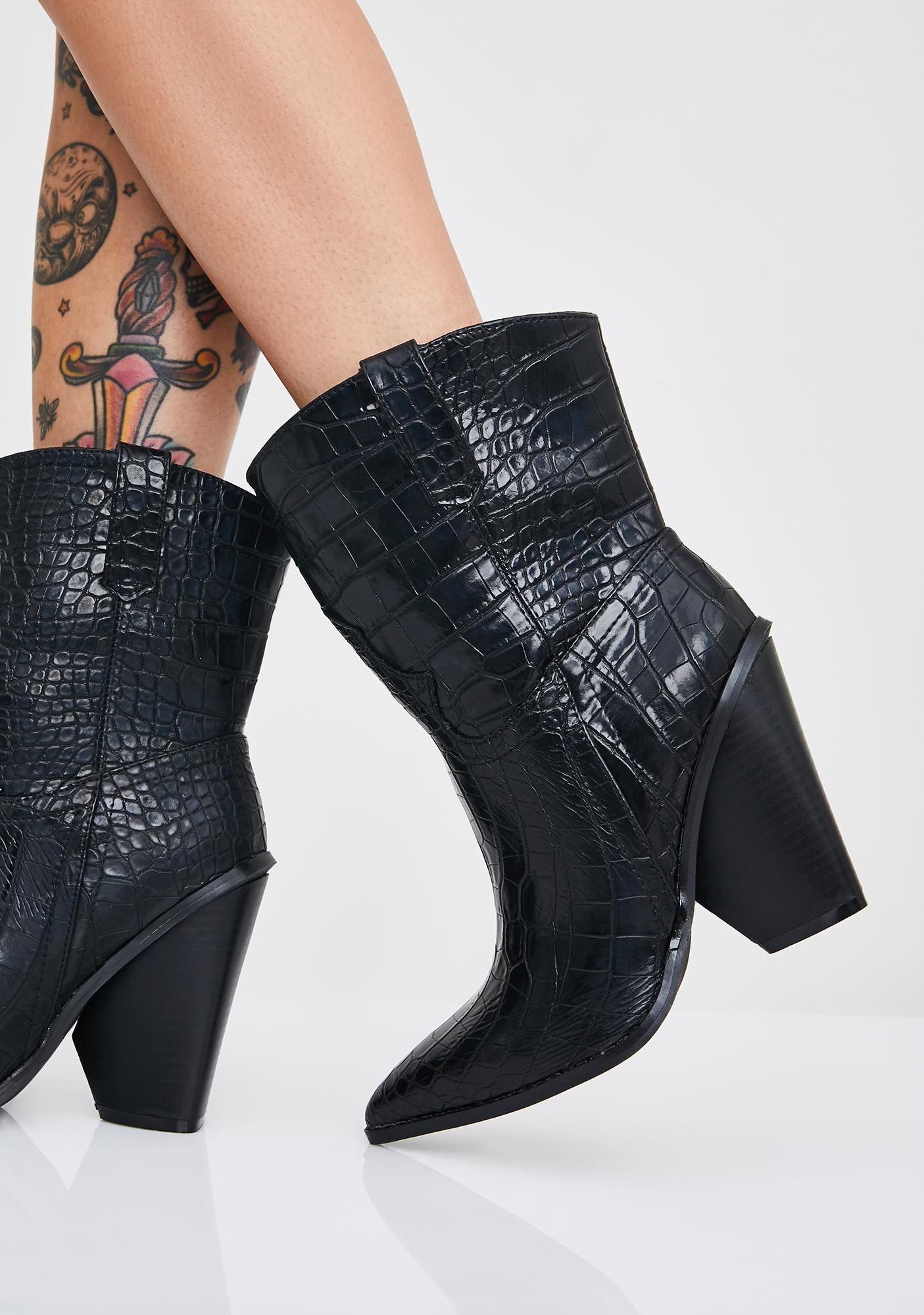 Toxic Cowboy Snakeskin Boots