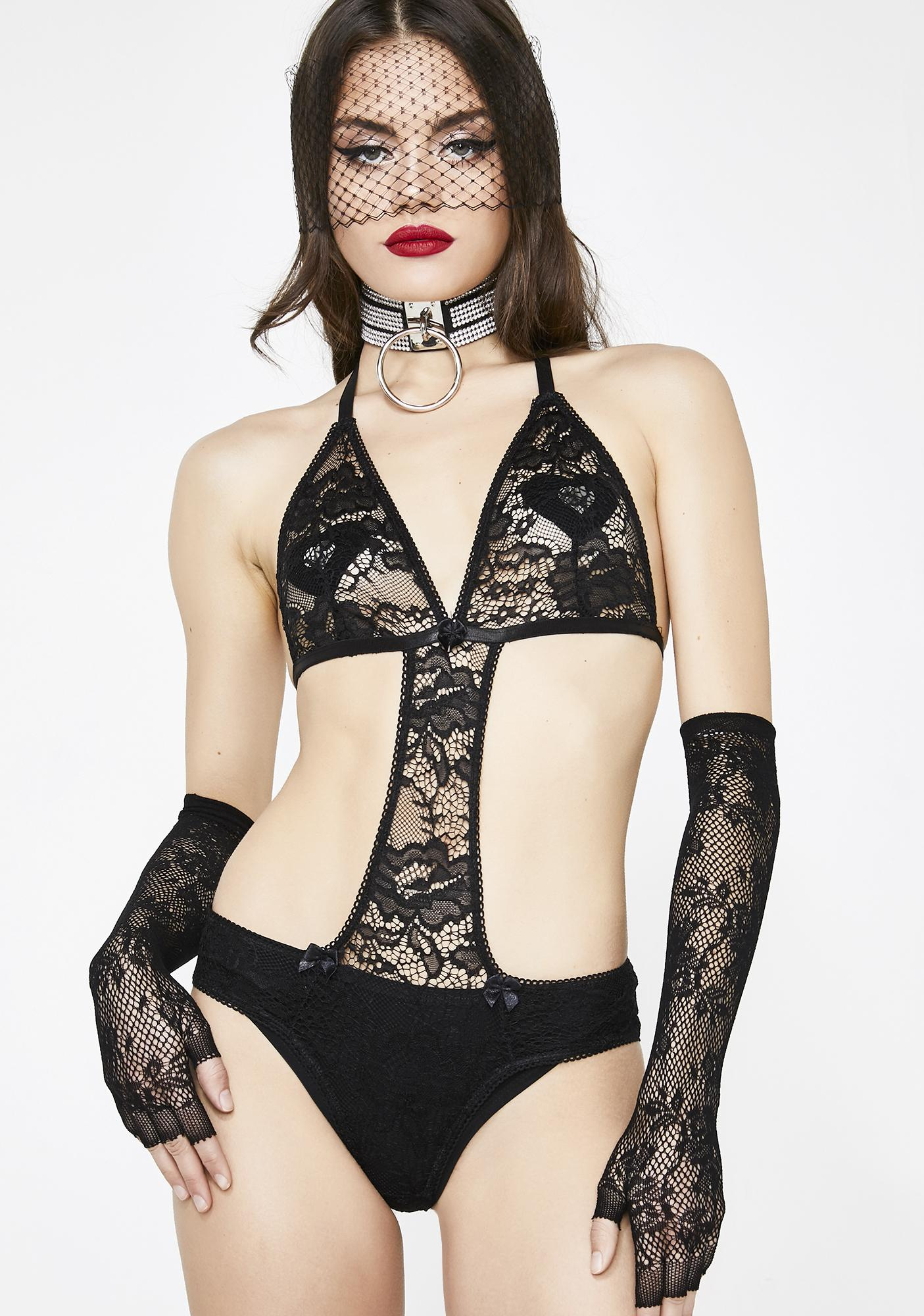 Current Mood Object Of Desire Lace Bodysuit