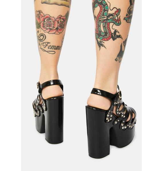 Sugar Thrillz Darkness Armed With Charm Butterfly Heels