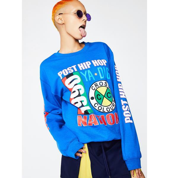 Cross Colours Post Hip Hop Nation Sweatshirt
