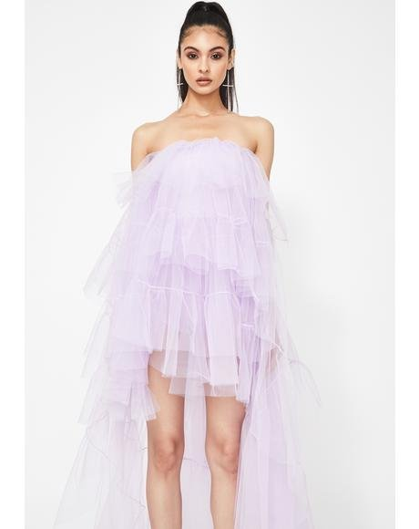 Lilac Ballerina Gone Bad Tulle Dress