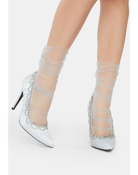 Ice Princess Rhinestone Heels