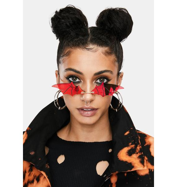 Wine Batty About U Tiny Sunglasses