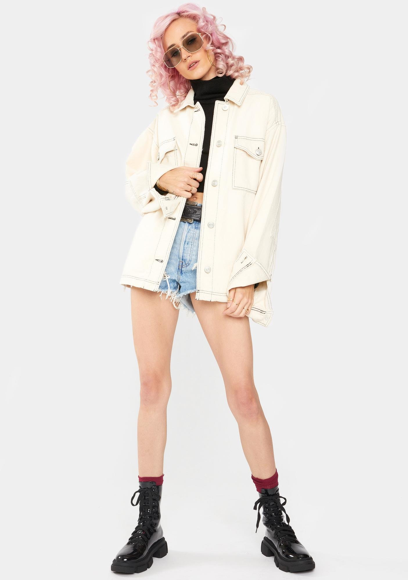 BDG Ecru Denim Jacket