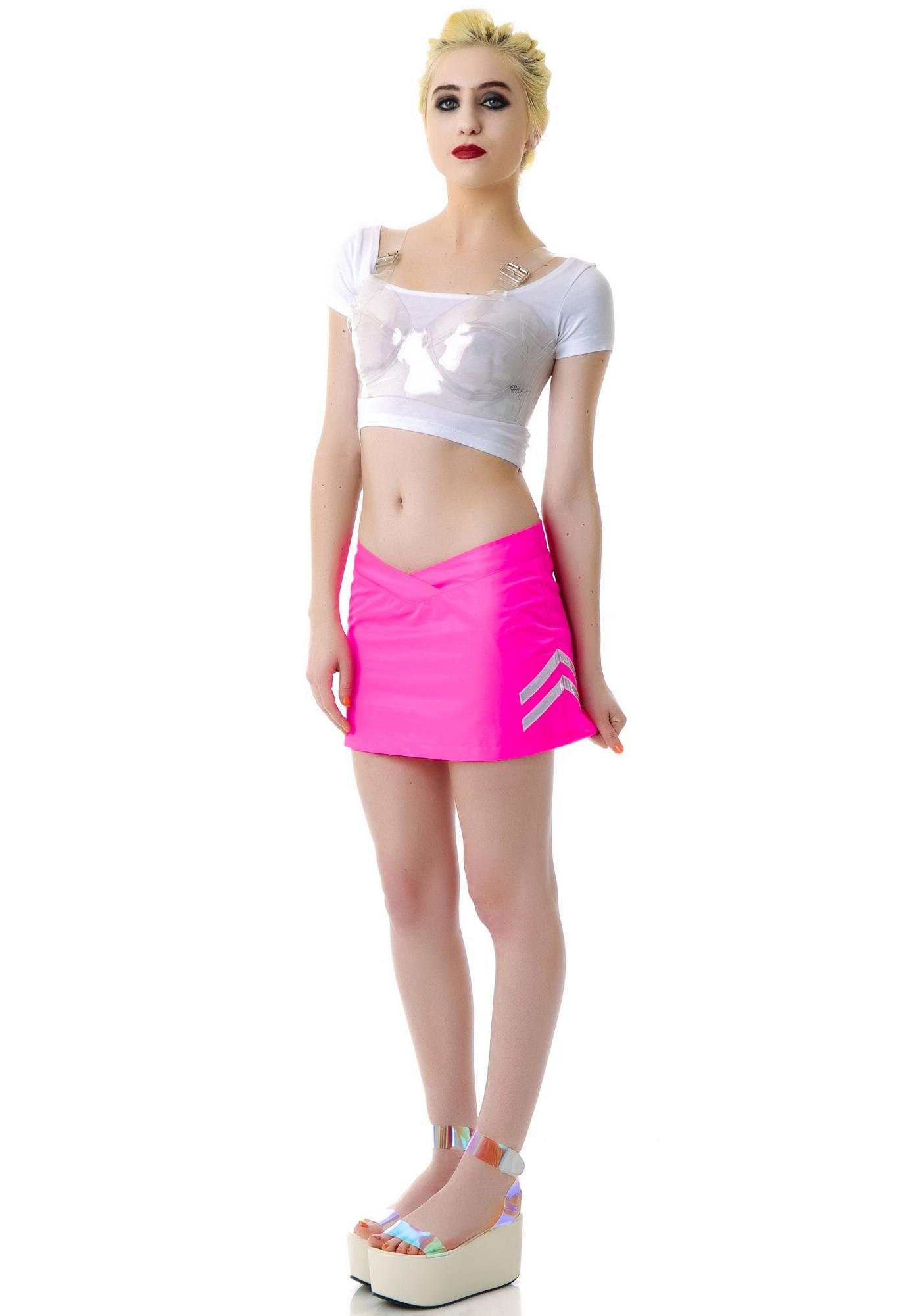 Reflective Mini Skirt