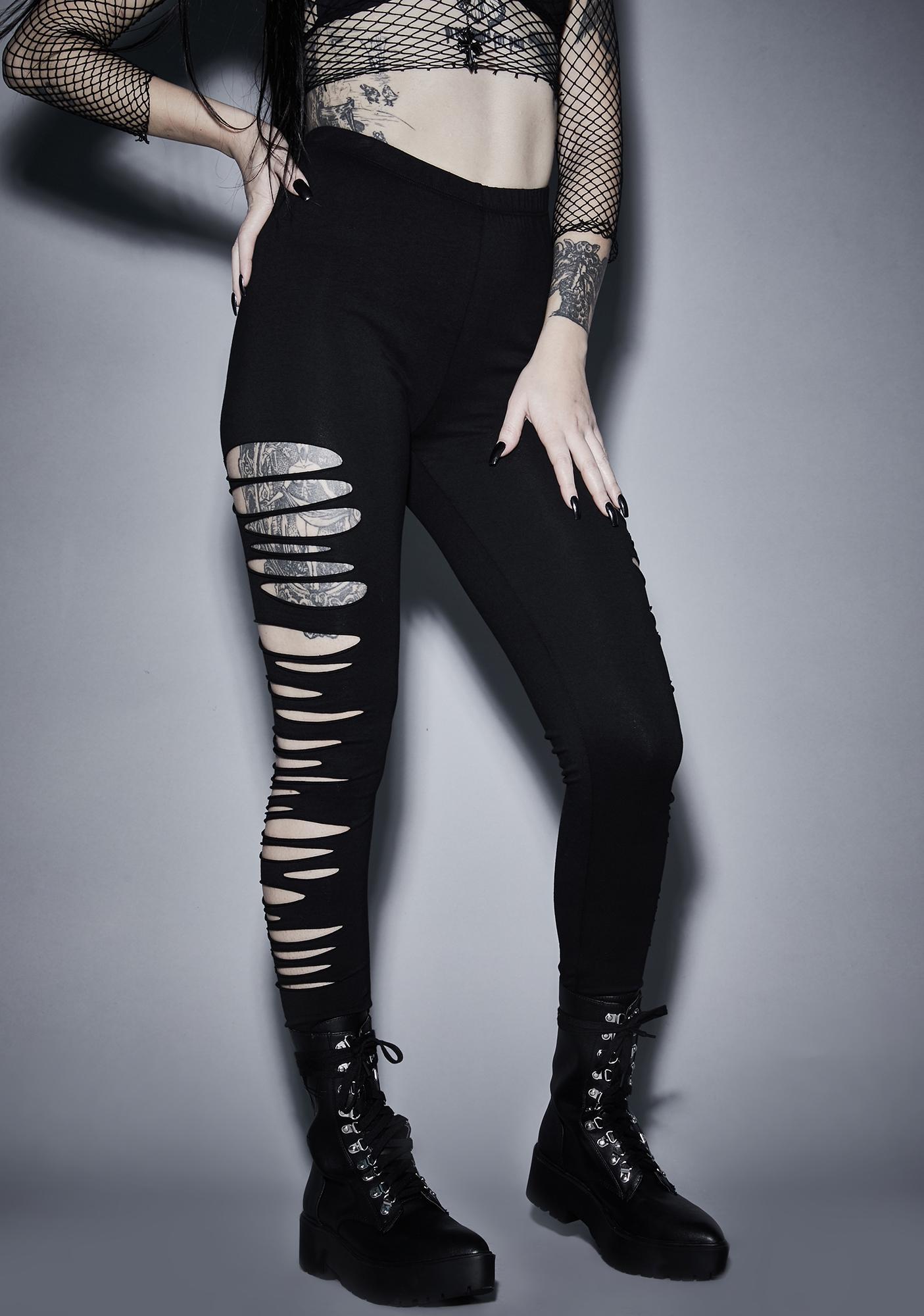 Widow Immortal Crypt Creeper Shredded Leggings