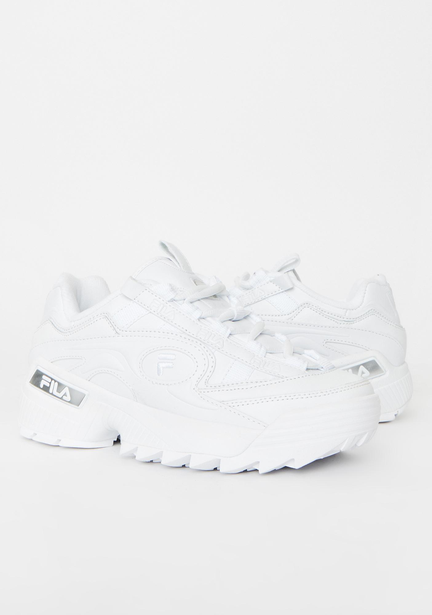 Fila White D-Formation Sneakers