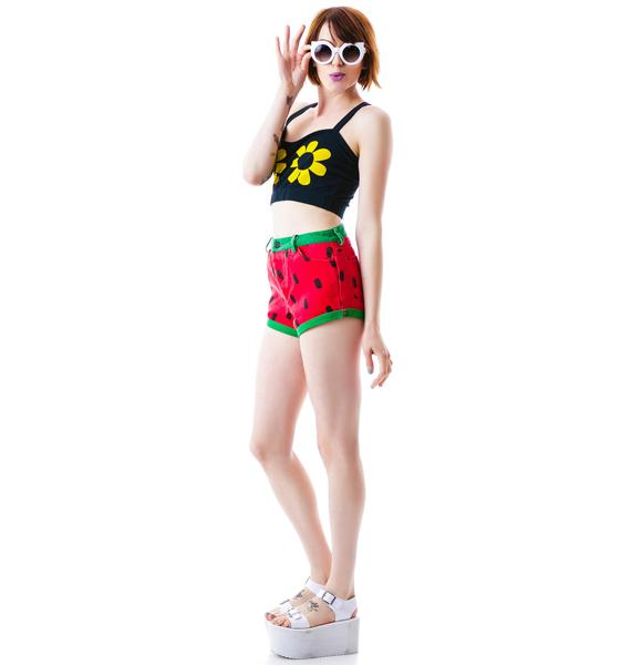 Lazy Oaf Bloomin Boobs Crop Top