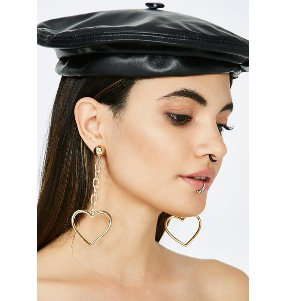 Heart Throb Drop Earrings