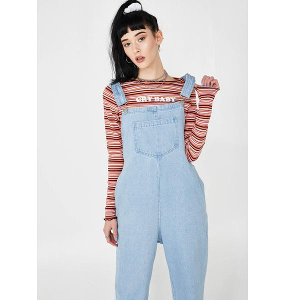 In A Mood Denim Overalls